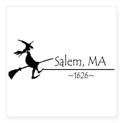 CafePress Salem, MA 1626 Sticker Square Bumper Sticker Car Decal, 3