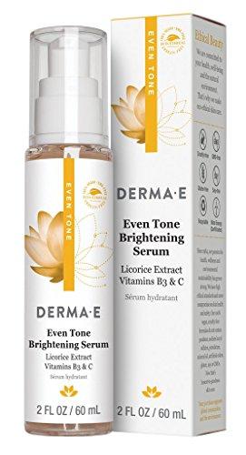 (DERMA E Evenly Radiant Serum - 2 Fl Oz, 2 Fluid)