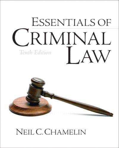 Essentials of Criminal Law