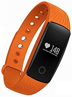 XuBa Smart Bracelet Heart Rate Monitor Wristband Gymnasium Fitness Exercise Running Bracelet for Android iOS Orange