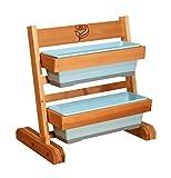 Gro Products CGS-2024-LB Color Vertical Garden Cedar Planter with 2 Planter Boxes, 24 x 24, Light Blue