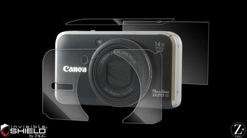 invisibleSHIELD Screen Protector Foils for Canon Powershot SX210 is Maximum ()