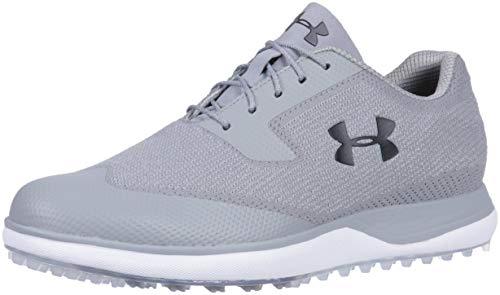 (Under Armour Men's Tour Tips Knit Spikeless Golf Shoe, Steel (100)/Zinc Gray, 12)