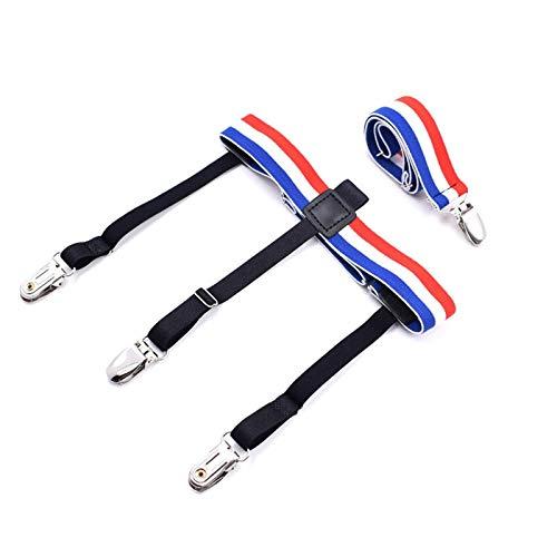 GOP Store 1Set Mens Colorful Shirt Stays Garters Holder Adjustable Shirt Holders Resistance Belt Sock Suspenders for Women Locking Clamps