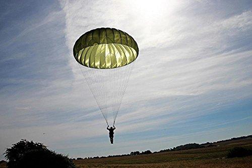 laminated poster parachutist parachute skydiving