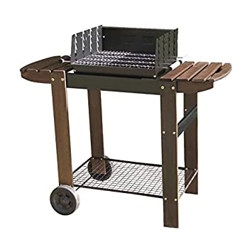 MURCIA Barbecue a charbon - Acier chromé - 115x58x101 cm