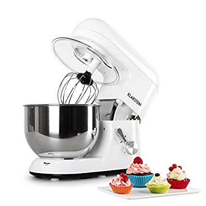 Klarstein TK1 Bella Bianca Robot de Cocina • Multifunción • Batidora, Picadora, Amasadora • Bol 5,2 L • 1200 W • Acero Inoxidable • Blanco: Amazon.es: Hogar