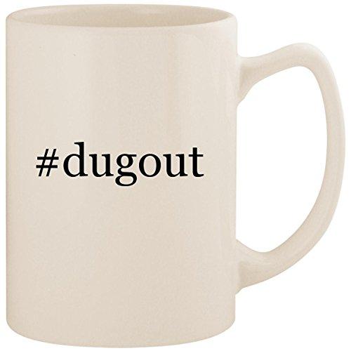 #dugout - White Hashtag 14oz Ceramic Statesman Coffee Mug Cup