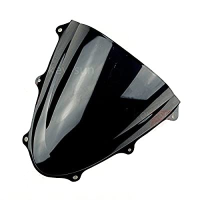 New Smoke Tinted Windscreen Windshield For Suzuki GSXR 600 750 2006 2007 06 07 K6 (Black): Automotive