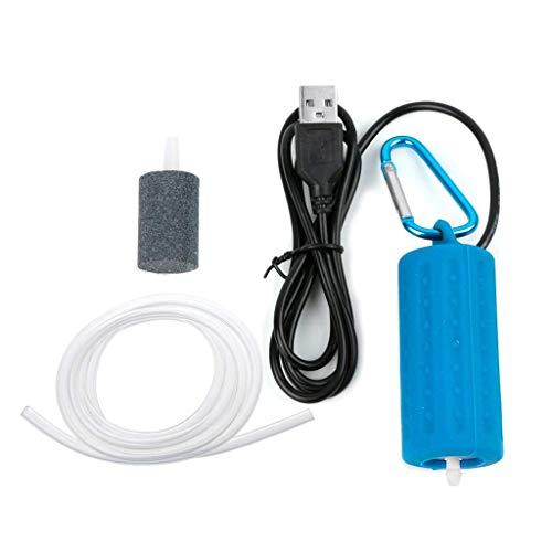 SimpleLife Portable Mini USB Aquarium Fish Tank Oxygen Air Pump Mute Energy Save Compressor (Fish Usb)