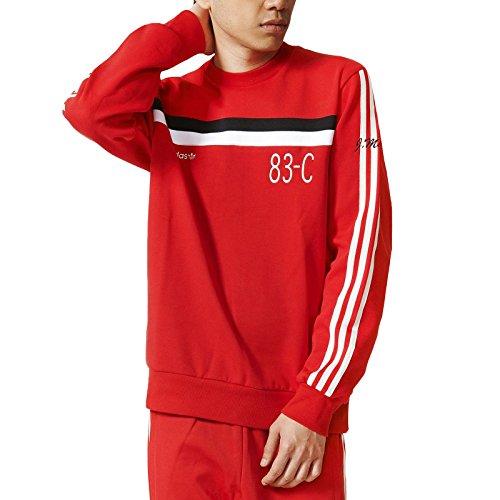 adidas Originals Mens Trefoil 83-C Retro Crew Neck Jumper - Red - L