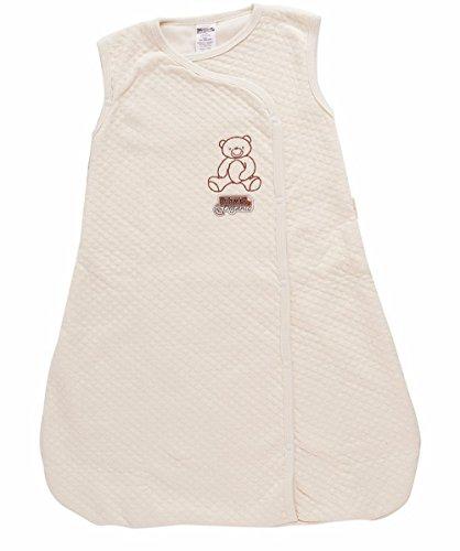 Baby Mink 100% Organic Cotton Unisex Baby Sleeping Bag Sack Natural (3-6 Months)