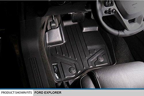SMARTLINER Floor Mats 1st Row Liner Set Black for 2011-2014 Ford Explorer Maxliner USA A0082