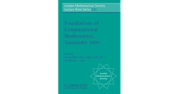 Amazon.com: Foundations of Computational Mathematics ...