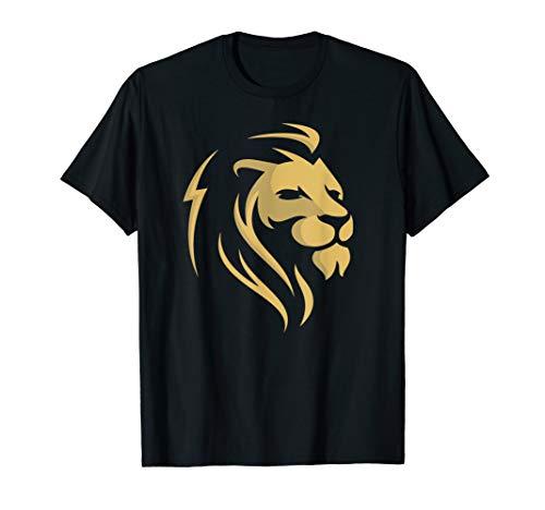 Gold Wilderness Lion Art Tee Shirt Men Women Kids]()