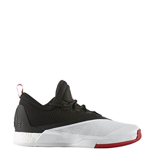 Adidas Performance Men's CrazyLight Boost 2.5 Low Harden PE Basketball Shoe (11, Black/Scarlet/White) (James Harden Shoes)