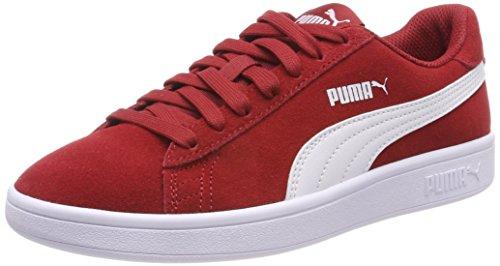 Pumas Sneaker Unisexe Smash Adulte V2, Rouge (rouge Dahlia-blanc Pumas)
