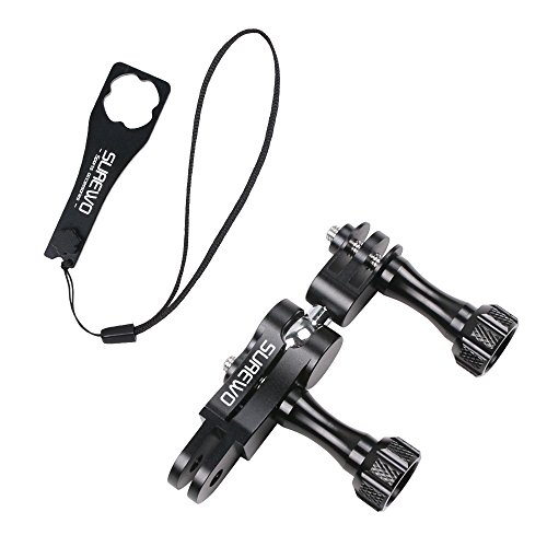 SUREWO Aluminum Ball Joint Mount,360 Degree Swivel Mount Arm Mount with Aluminium Wrench Compatible with GoPro Hero 7/(2018) 6 5 Black,4 Session,4 Silver,3+,DJI Osmo Action,YI,Campark,AKASO and More