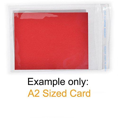"Violonchelo Celofán Transparente de 10 tarjetas de felicitación bolsas de 5.5/"" X 7.5/"""