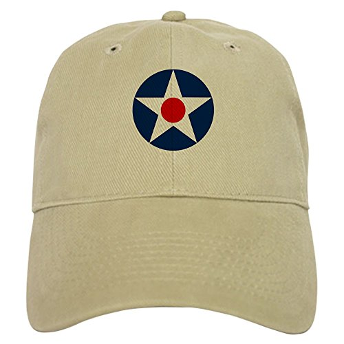 CafePress US Army Air Corps Roundel (1926) Baseball Cap with Adjustable Closure, Unique Printed Baseball Hat Khaki