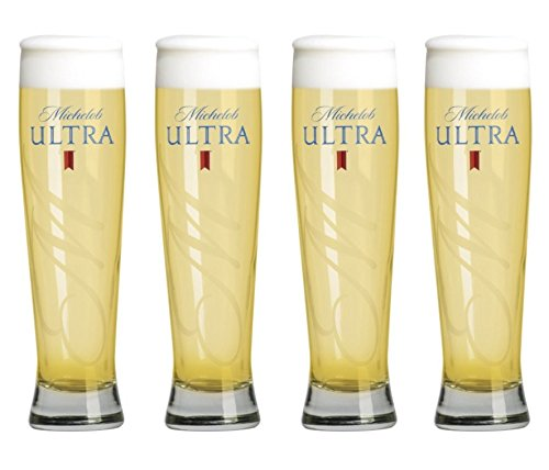 Michelob Ultra Altitude Tall Pilsner Glass | Set of 4 Glasses