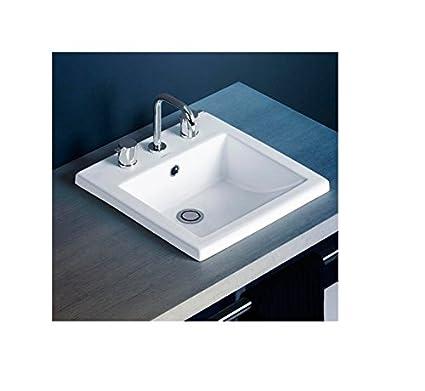 Caroma 664738W Liano Inset Basin - Bathroom Sinks - Amazon.com