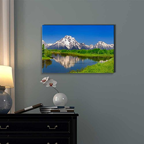 Beautiful Scenery Landscape Oxbow Bend at Grand Teton Home Deoration Wall Decor