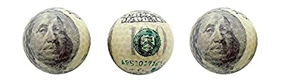 3 Pack Golf Balls (Available in Various Styles) ($100 Bill)
