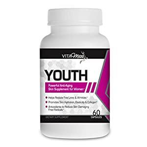 Vitamiss Youth – Anti-Inflammatory, Antioxidant & Anti-Aging Supplement, 100% Natural Skin Rejuvenating Formula, Promotes Health Nails, Hair, and Immune System