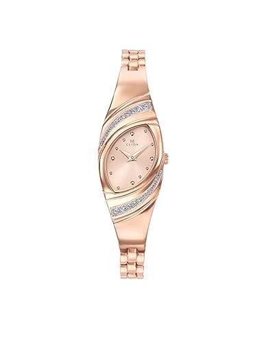 Reloj Acero Mujer Rosa Dorado