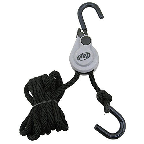 PROGRIP 402400 XRT Rope Lock Tie Down w/Pushbutton Release for Cargo Transport and Control: 8 x 1/4 (Pack of 1)