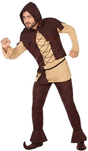 Mens Medieval Peasant Villager Innkeeper Carnival Fancy Dress Costume Outfit M/L]()