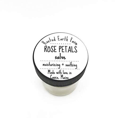 (Organic Rose Petals Salve 1 oz Moisturizer for Skin Lips Hair Flower Scent)