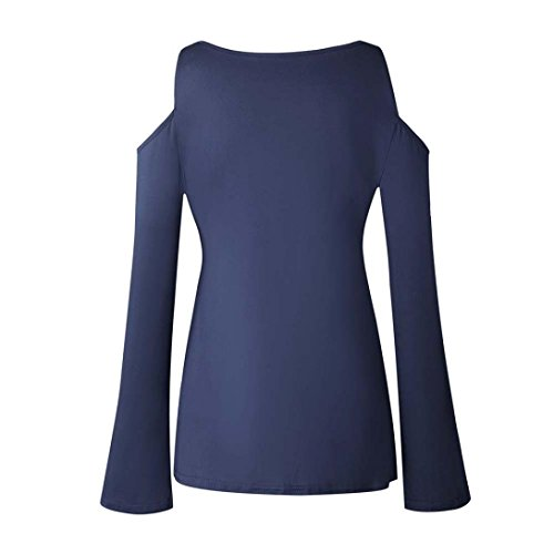 Resplend Femme Fonc Bleu Chemisier langarmshirt rFFgqYTw