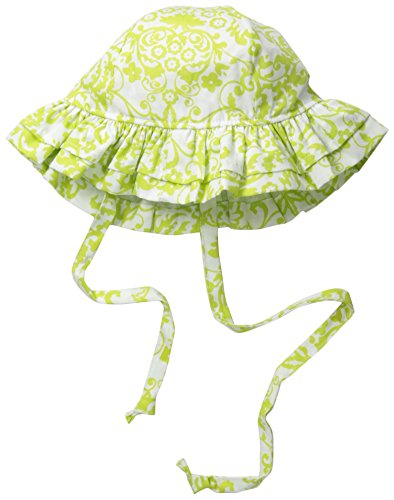 Flap Happy Baby Girls' UPF 50+ Double Ruffle Hat, Bella Brocade, ()