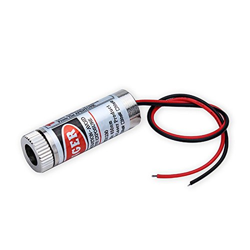 focusable-650nm-5mw-3-5v-red-laser-cross-module-diode-w-driver-plastic-lens-2-pack