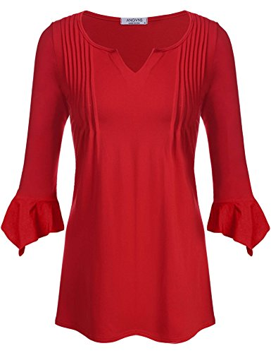 ANGVNS Womens Casual Sleeve Blouse
