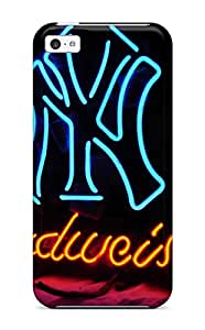 Durable Protector Case Cover With New York Yankees Hot Design For Iphone 5c