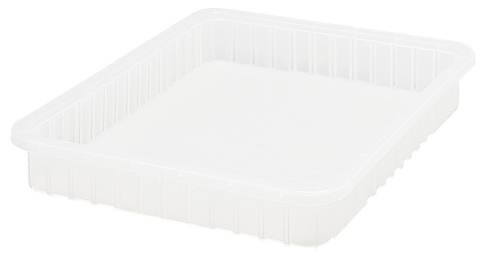 Quantum Storage Systems DG93030CL Dividable Grid Container 22-1/2-Inch Long by 17-1/2-Inch Wide by 3-Inch Long, Clear, 6-Pack