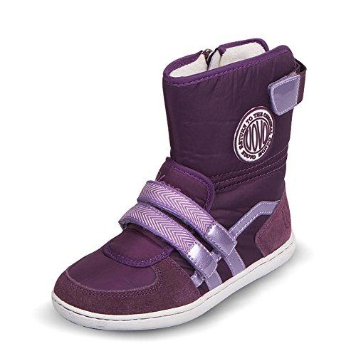 U-MAC Girls Snow Boots Comfort Winter Boots Great Fur Lining(Toddler/Little Kid/Big Kid) Purple