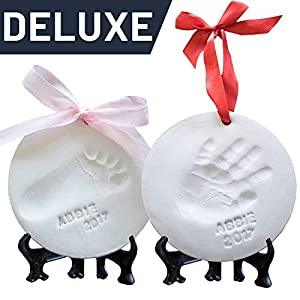 Baby Ornament Keepsake Kit (NEWBORN BUNDLE) 2 EASELS, 4...