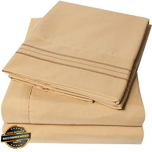 Gatton New Premium 1800 Thread Count Microfiber Bedroom Solid Color Bed Sheet Set   LINENIENHM-182012332 California - Kit Bath Tangerine