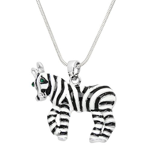 Zebra Pendant Necklace