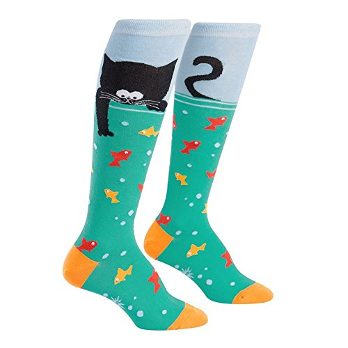 [Sock It To Me Women's Knee High Funky Socks Animals (Gone Fishing)] (Group Animal Costumes)