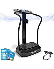 Bluefin Fitness Vibration Plate | Pro Model | Upgraded Design With Silent Motors | Comes with Built in Speakers (Black)