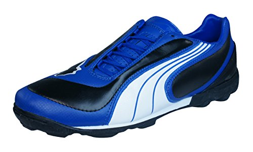 Puma V3.08 TT Mens Leather Astro Turf Soccer Sneakers-Black-10.5