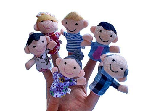 Vi.yo Family Finger Dolls Hand Puppet Glove Doll Educational Toys For Children Babies Toddlers 6 Pieces