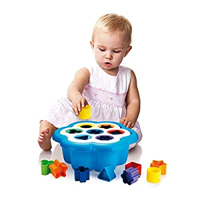 Quercetti Daisy Shape Sorter - Classic 16 Piece Shape and Color Sorting Toy (Made in Italy): Toys & Games