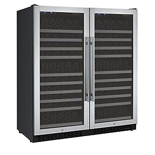 Allavino FlexCount 2X-VSWR128-1SST - 256 Bottle Dual-Zone Wine Refrigerator - Side by Side