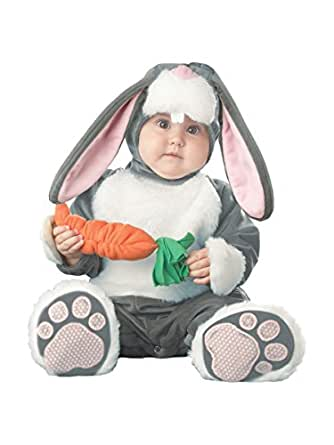 InCharacter Baby's Lil Character Baby Bunny Costume, Dark Grey/White/Pink, 6-12 Months